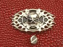 Concho Skull Cross Flame Biker Celtic