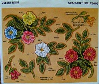 Schablone Folie Vorlage Punzieren Rosenmuster 12