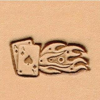 8559-00 Prägestempel, Herz-As, Flamme,